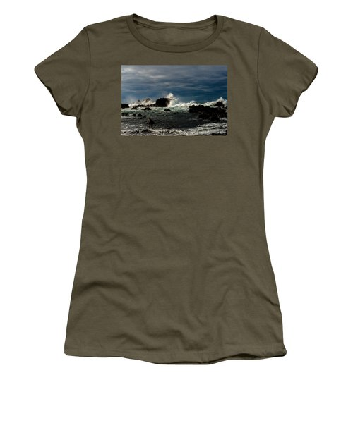 Stormy Seas And Skies  Women's T-Shirt (Athletic Fit)