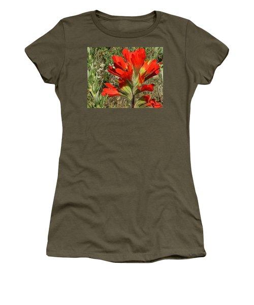 Texas Paintbrush Women's T-Shirt (Junior Cut) by Ellen Henneke