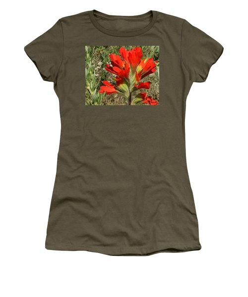 Texas Paintbrush Women's T-Shirt (Athletic Fit)