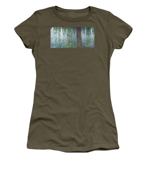 Waterlilies Morning With Weeping Willows Women's T-Shirt