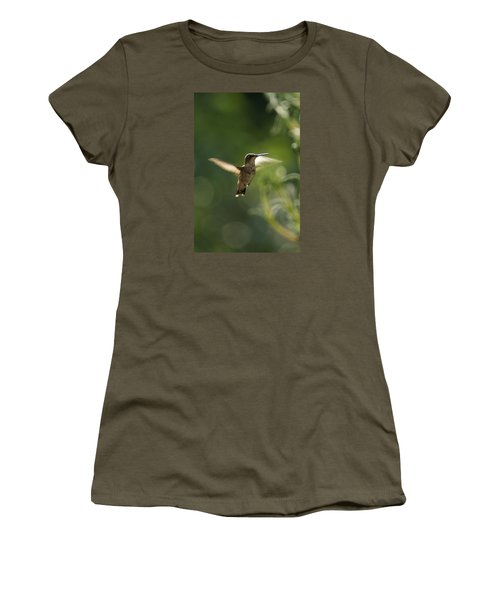 Women's T-Shirt (Junior Cut) featuring the photograph Hummer by Heidi Poulin