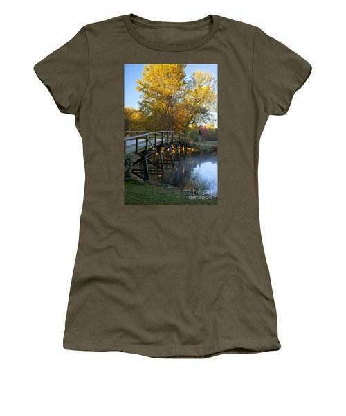 Women's T-Shirt featuring the photograph Old North Bridge Concord by Brian Jannsen