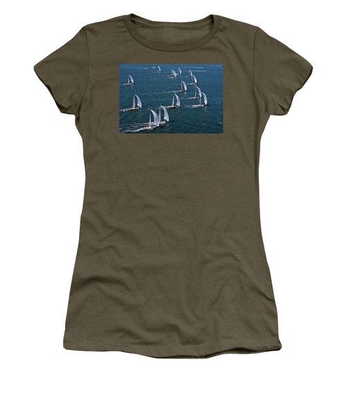 Sailboats In Swan Nyyc Invitational Women's T-Shirt