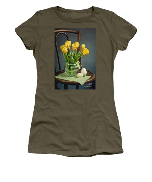 Still Life With Yellow Tulips Women's T-Shirt