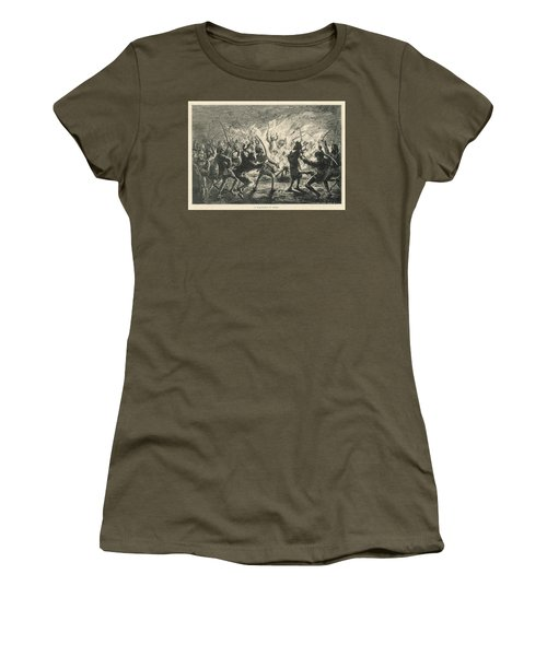 Semipalmated Sandpipers Women's T-Shirt (Junior Cut) by Yva Momatiuk John Eastcott