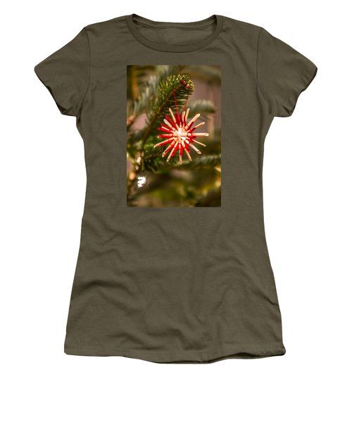 Women's T-Shirt (Junior Cut) featuring the photograph Christmas Tree Ornaments by Alex Grichenko