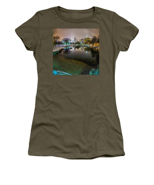 Charlotte Nc Skyline Covered In Snow In January 2014 Women's T-Shirt