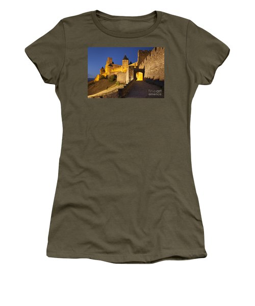 Women's T-Shirt featuring the photograph Medieval Carcassonne by Brian Jannsen