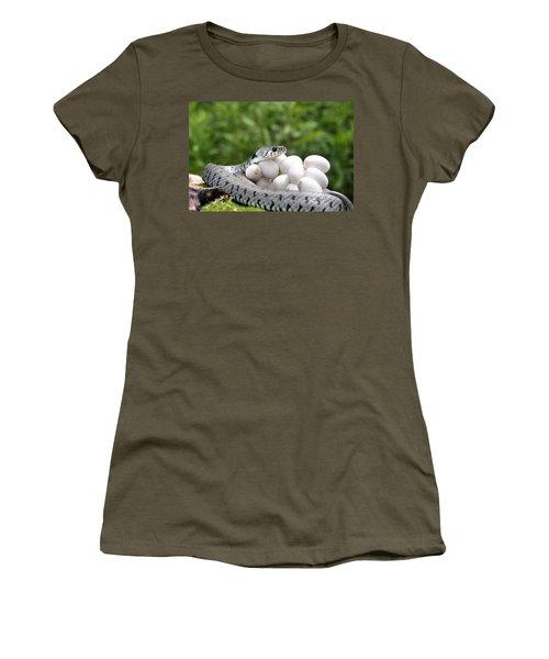 Grass Snake With Eggs Women's T-Shirt