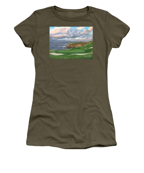 8th Hole Pebble Beach Women's T-Shirt (Athletic Fit)
