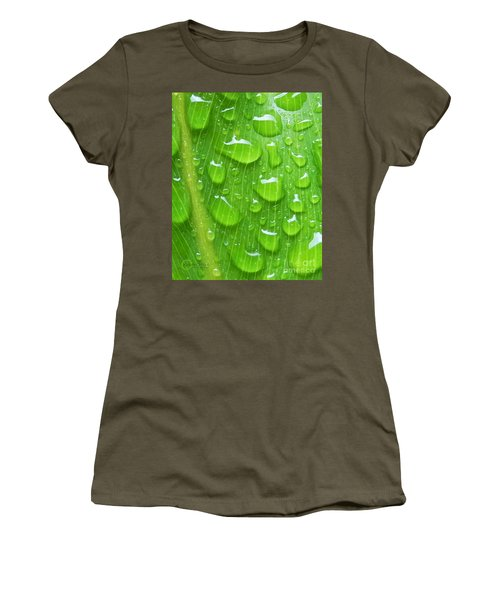 Women's T-Shirt (Junior Cut) featuring the photograph A Cleansing Morning Rain by Robert ONeil