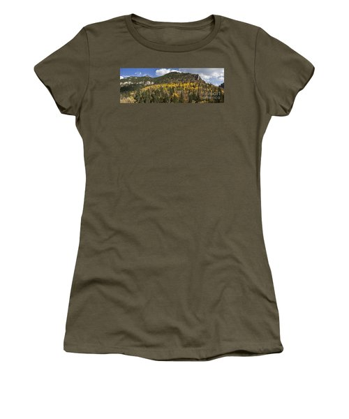 A Falls Day In Spearfish Canyon Of South Dakota Women's T-Shirt (Athletic Fit)
