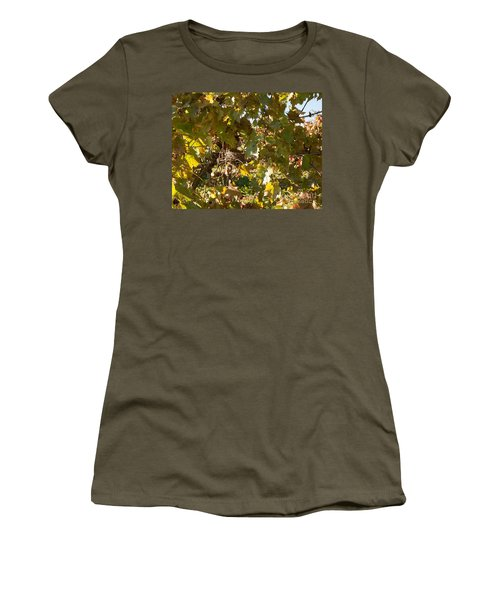 Women's T-Shirt (Athletic Fit) featuring the photograph A Few Grapes Left For The Birds by Carol Lynn Coronios