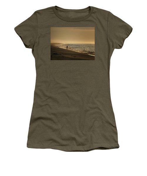Women's T-Shirt (Junior Cut) featuring the photograph A Fisherman's Morning by GJ Blackman
