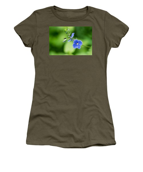 A Flower And A Fly - Featured 3 Women's T-Shirt (Junior Cut) by Alexander Senin