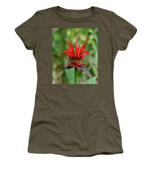 A Flowering Red Castle Beauty Women's T-Shirt (Junior Cut) by Kim Pate
