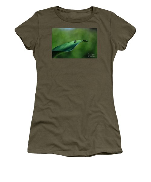 Women's T-Shirt (Junior Cut) featuring the photograph A Fly And His Shadow by Thomas Woolworth
