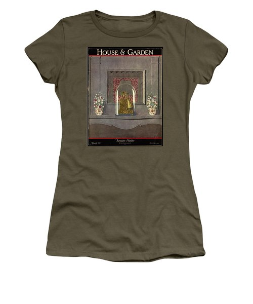 A Gilded Mantle Clock In A Bell Jar Women's T-Shirt