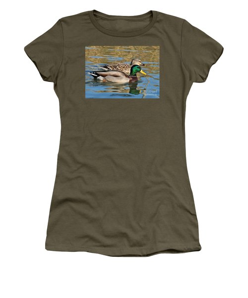 Women's T-Shirt (Junior Cut) featuring the photograph A Handsome Pair by Kathy Baccari