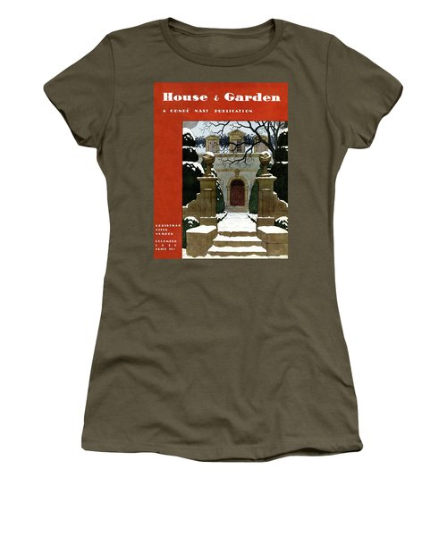 A House And Garden Cover Of A Mansion Women's T-Shirt