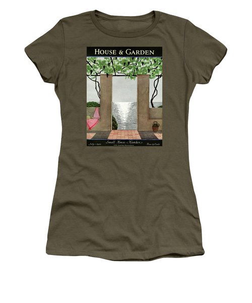 A House And Garden Cover Of A Seaside Patio Women's T-Shirt