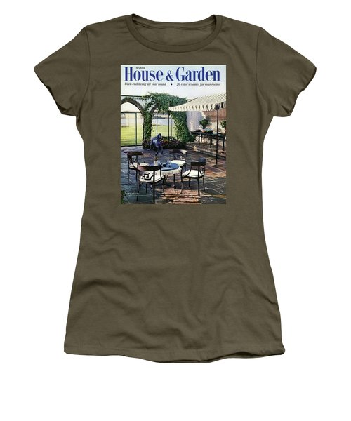 A House And Garden Cover Of A Terrace In East Women's T-Shirt