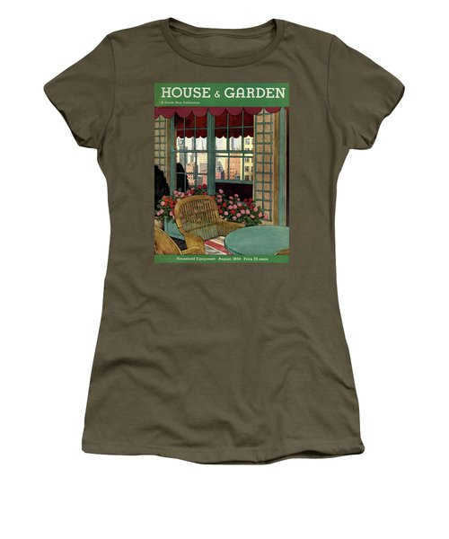A House And Garden Cover Of A Wicker Chair Women's T-Shirt