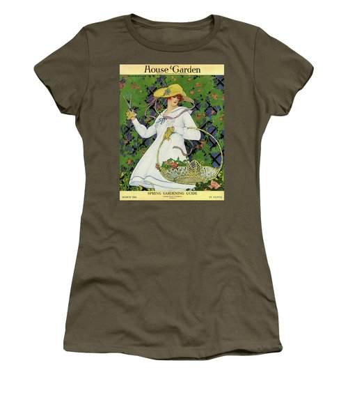 A House And Garden Cover Of A Woman Gardening Women's T-Shirt