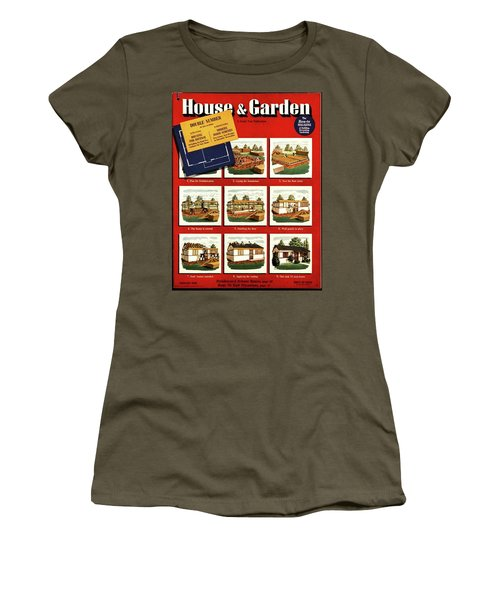 A House And Garden Cover Of Construction Stages Women's T-Shirt