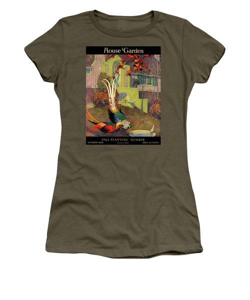 A House And Garden Cover Of Peacocks Women's T-Shirt