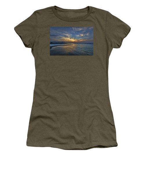 a joyful sunset at Tel Aviv port Women's T-Shirt