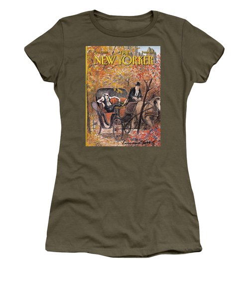A Mohawked Punk Sitting In The Back Of A Horse Women's T-Shirt