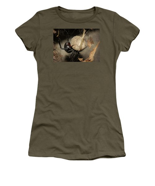 A Mothers Den Women's T-Shirt (Junior Cut) by Melanie Lankford Photography
