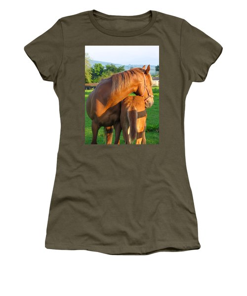 Women's T-Shirt (Junior Cut) featuring the photograph A Mother's Love by Suzanne Oesterling