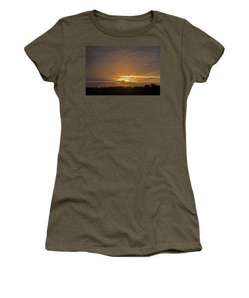 Women's T-Shirt (Athletic Fit) featuring the photograph A New Day - Sunrise In Texas by Todd Aaron