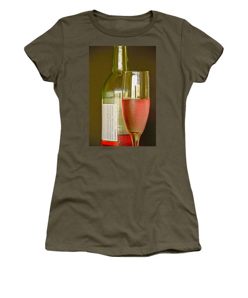 A Nice Glass Of Wine Women's T-Shirt (Athletic Fit)