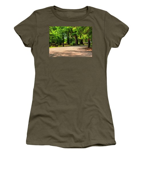 Women's T-Shirt (Junior Cut) featuring the photograph A Place For Picnic by Ester  Rogers