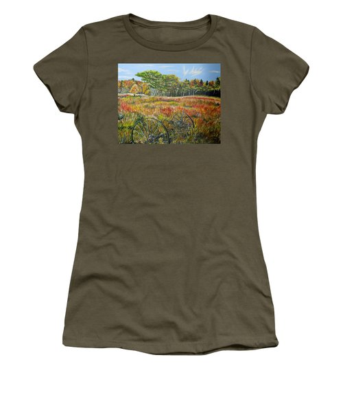 Women's T-Shirt (Junior Cut) featuring the painting A Prairie Treasure by Marilyn  McNish