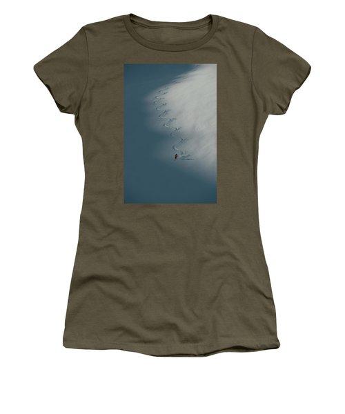 A Ski Guide Dances With A Mountain Women's T-Shirt