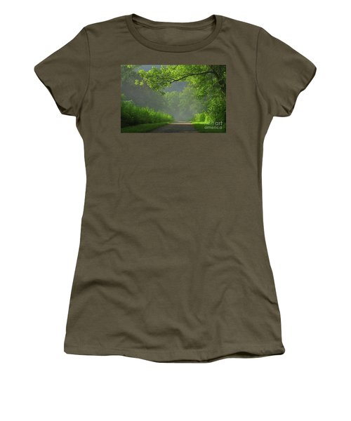 A Touch Of Green II Women's T-Shirt (Athletic Fit)