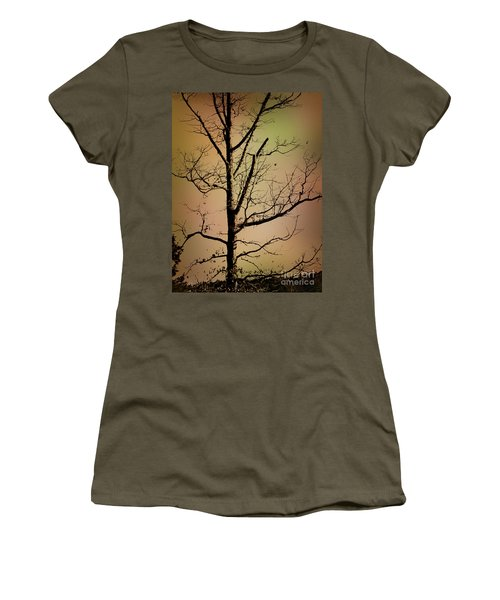 A Tree By The Lake Women's T-Shirt (Athletic Fit)