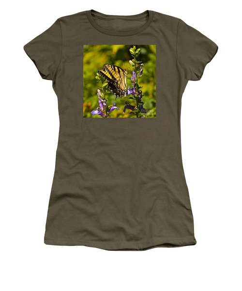 A Warm September Day In The Garden Women's T-Shirt (Junior Cut) by Byron Varvarigos
