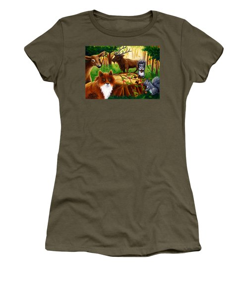 A Woodland Thanksgiving Women's T-Shirt