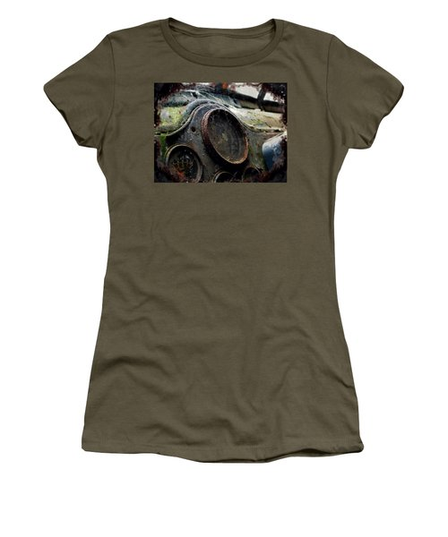 Women's T-Shirt (Junior Cut) featuring the photograph Abandoned by Micki Findlay