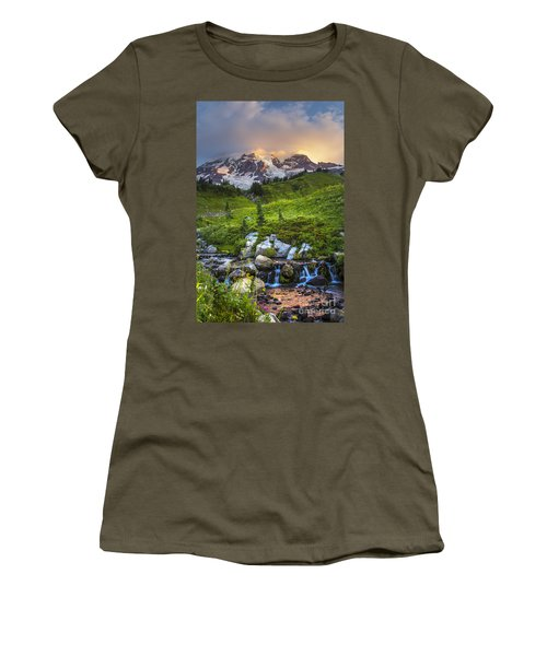 Above Myrtle Falls 3 Women's T-Shirt (Athletic Fit)