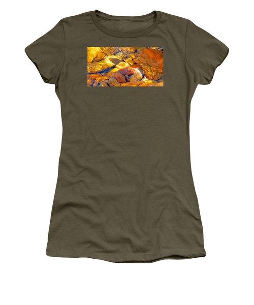 Abstract Creek Water 4 Women's T-Shirt