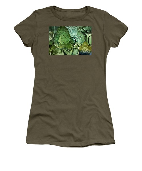 Abstract In Green Women's T-Shirt