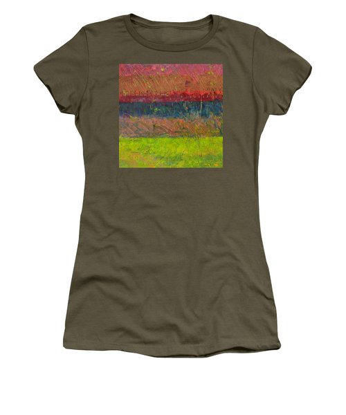 Abstract Landscape Series - Lake And Hills Women's T-Shirt