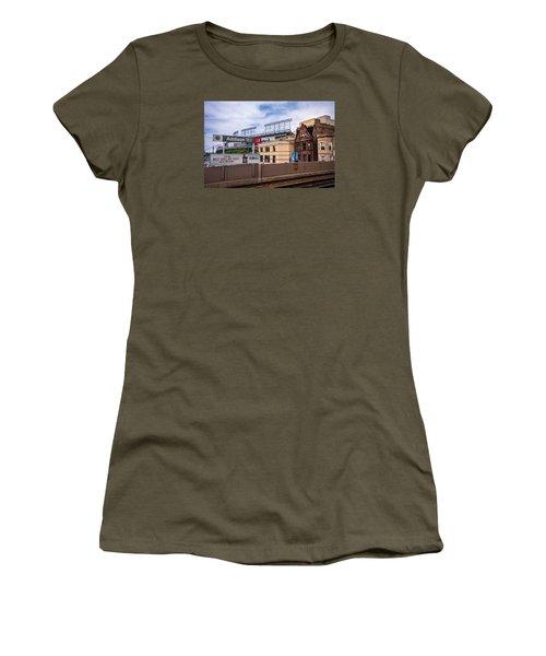 Addison Street Station Women's T-Shirt (Junior Cut) by Tom Gort