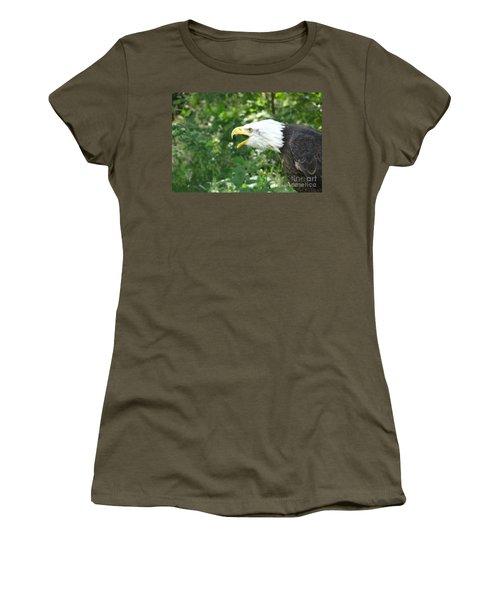 Women's T-Shirt (Junior Cut) featuring the photograph Adler Raptor Bald Eagle Bird Of Prey Bird by Paul Fearn